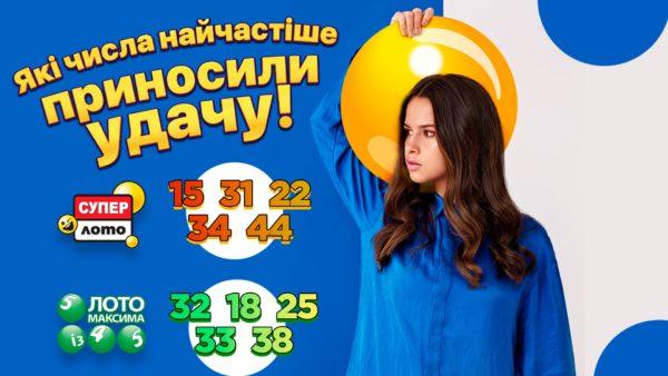 Які числа найчастіше випадали в лотерею